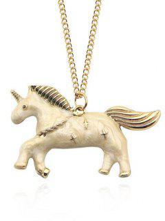 Star Unicorn Collarbone Necklace - Yellow