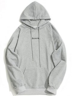 Sudadera Con Capucha Kangaroo Pocket Chinion Graphic - Gris M