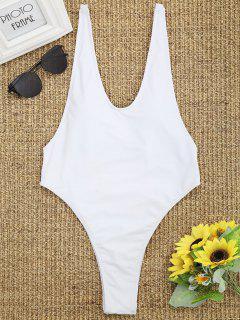 Tauchen Sie Hoch Geschnittenen Badeanzug - Weiß S