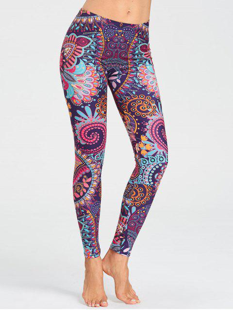 Leggings de course imprimés floraux tribal - Floral S Mobile