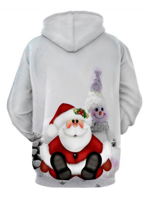 Hoodie do Natal do pulôver da cópia do boneco de - Cinzento XL Mobile