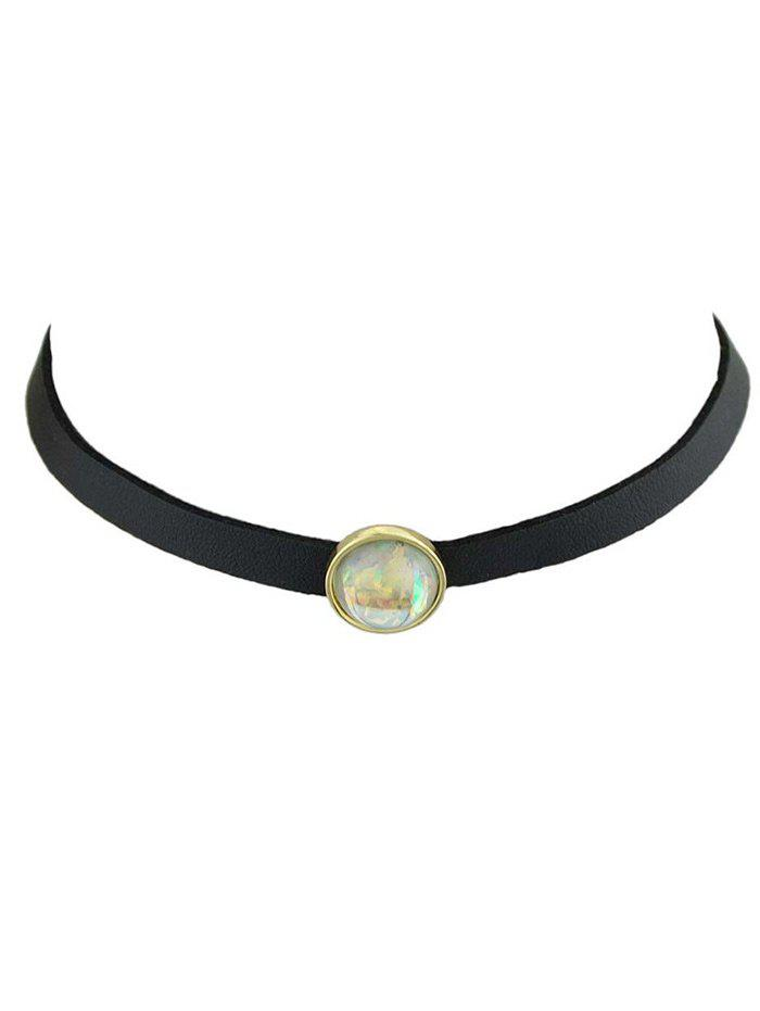 Image of Vintage Faux Gemstone Round Choker Necklace