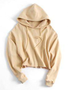 b8928d5888f6f 39% OFF  2019 Drawstring Plain Cropped Hoodie In RED