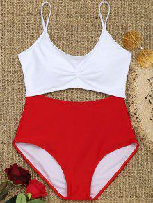 اثنين من لهجة انقطاع ملابس السباحة - أحمر S