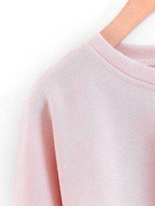 En Rosado Cuello Con L Contraste Con Textura Sudadera pUR68n7