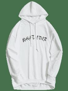Ever Sudadera S What De Con Blanco Graphic Capucha qqwO4X6