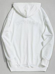 Sudadera Blanco Ever Graphic Con Capucha What De S awaPx