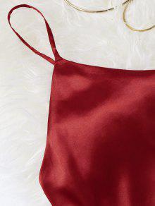 S Verano Oscuro Rojo Vestido Mini Cami De zPwOq1S