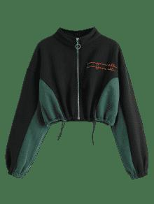 Cat Capucha Cat Negro Bordada Con Sudadera qxPIw6010