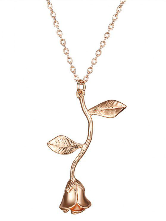 best Rose Flower Pendant Necklace - ROSE GOLD