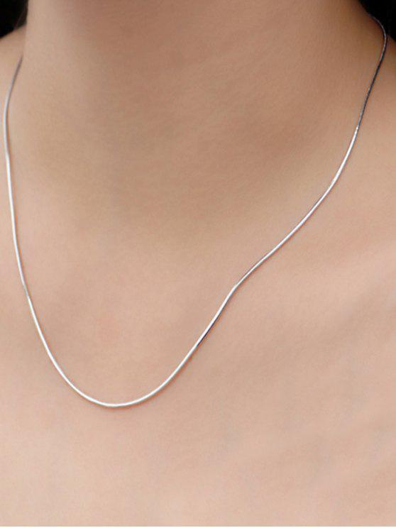 trendy Snake Chain Necklace - SILVER