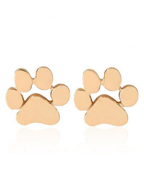 best Cute Puppy Claw Stud Tiny Earrings - GOLDEN