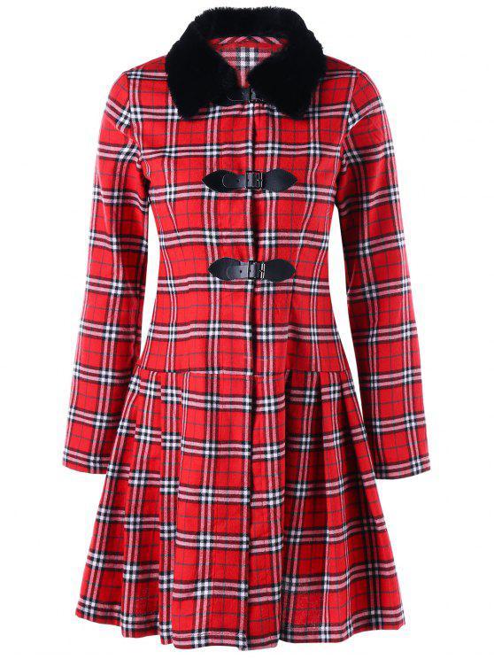 quality design 86959 b8384 Cappotto con gonna scozzese RED