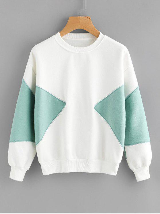 shops Piped Two Tone Sweatshirt - WHITE S