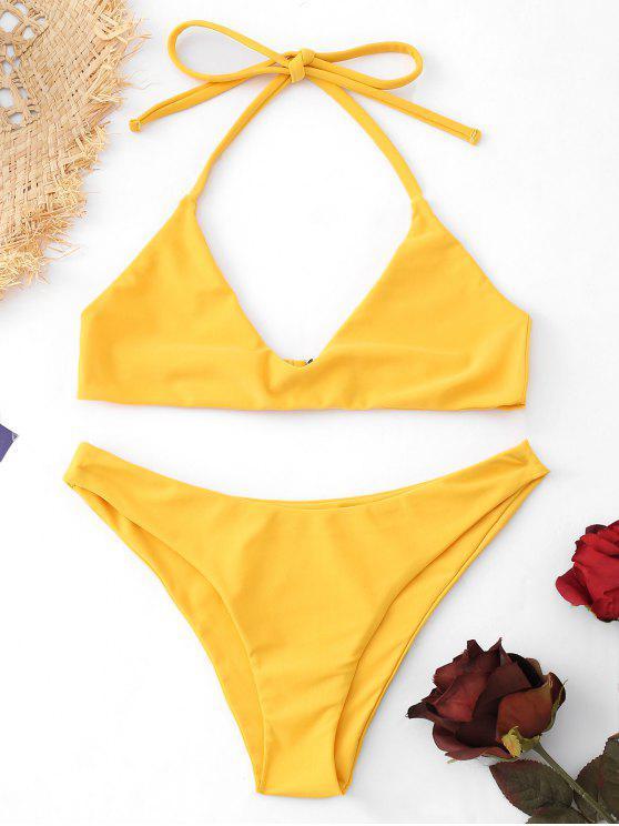 Terno de banho Halter Bralette - Amarelo M