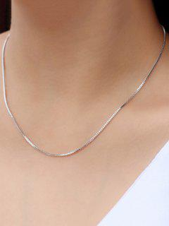 Box Chain Necklace - Silver