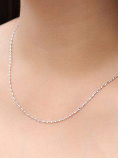 Collar De Cadena Simple - Plata