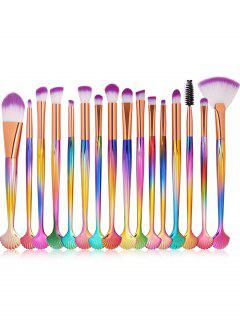 16 Pcs High Quality Fiber Hair Eye Makeup Brush Set