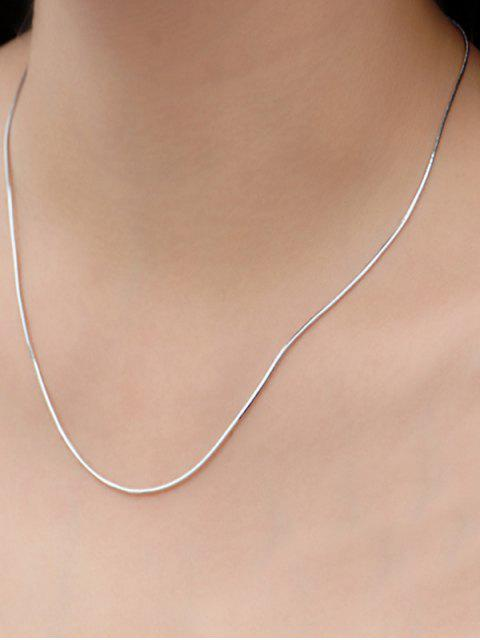 trendy Snake Chain Necklace - SILVER  Mobile