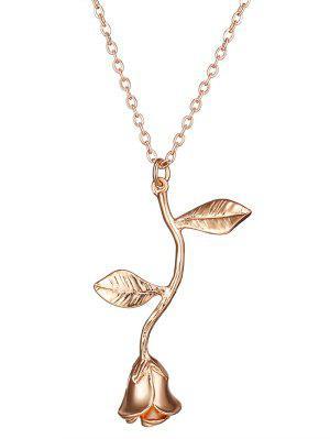 Rose Blume Anhänger Halskette