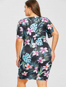 Y Sobrepelliz Estampado Hojas Floral Con De 2xl Tropicales Vestido pTBqxAn6wC
