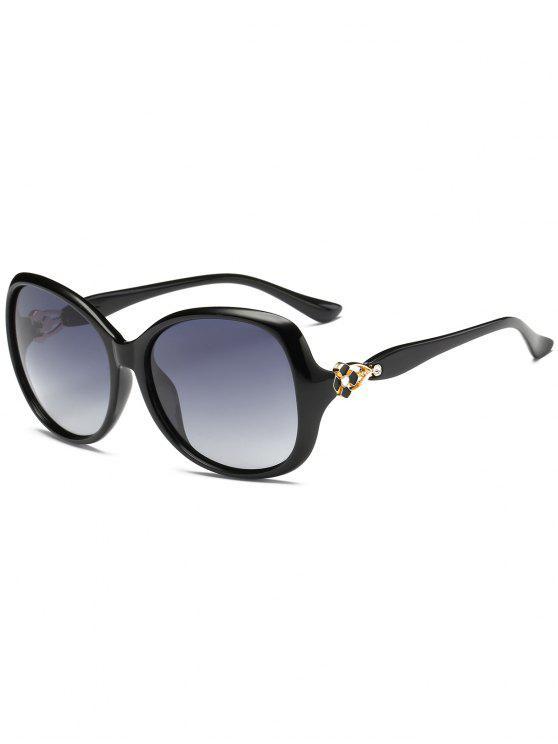 Décoration florale en métal surdimensionné Sun Shades lunettes de soleil - Lumineux Noir