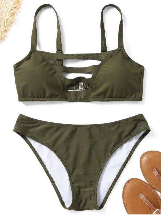 سلم قطع مبطن ثوب السباحة - الجيش الأخضر S