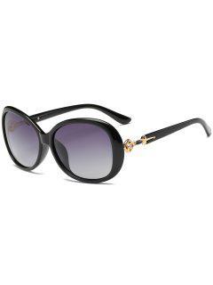 Rhinestone Inlay Embellished Oversized Sun Shades Sunglasses - Photo Black