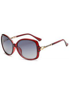 Hollow Out Metal Décoration Sun Shades Lunettes De Soleil - Rouge