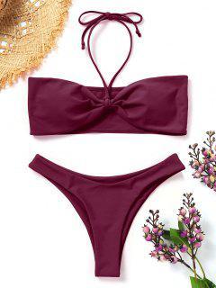 Gepolstertes Bandeau Bikini Set - Magenta S