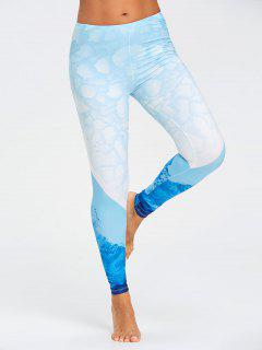 Stretch Sea Ombre Leggings - Blue Xl