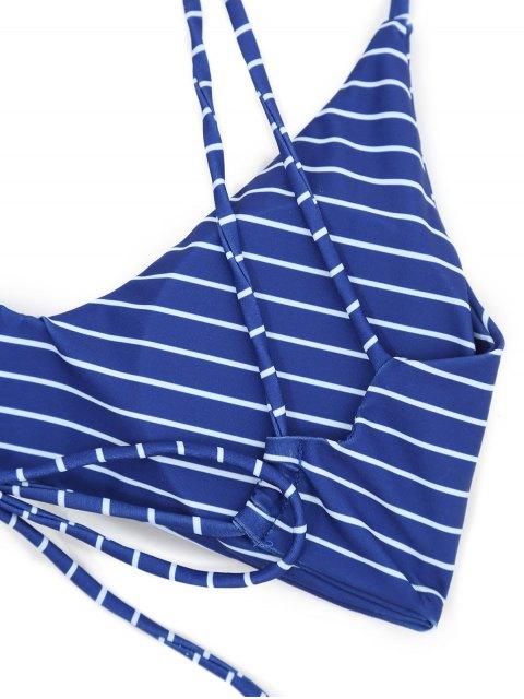 Maillot De Bain Rayé En Cage - Bleu profond M Mobile