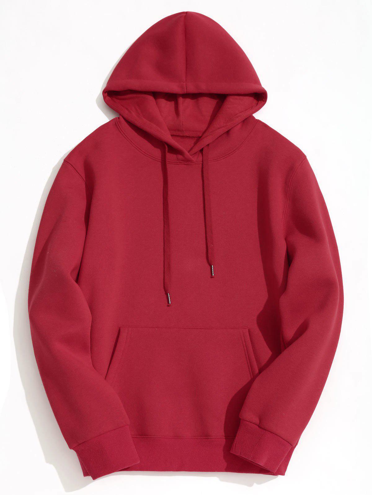 Fleece Lining Kangaroo Pocket Hoodie 239159001