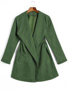 معطف تنورة مربوط  - أخضر