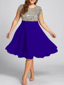 فستان السهرة الحجم الكبير  - ملكي 5xl