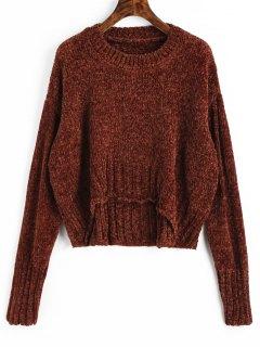 Pullover Mit Rundhalsausschnitt - Golden Brown