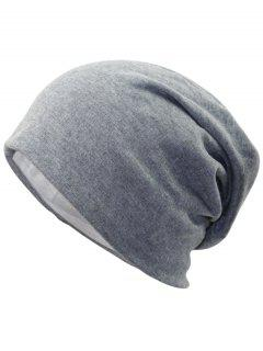 Simple Two Layers Thicken Slouchy Beanie - Light Grey