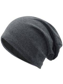 Simple Two Layers Thicken Slouchy Beanie - Dark Gray