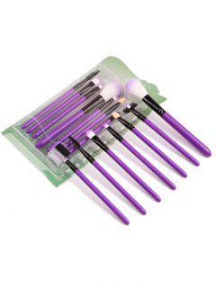 Portable Beauty Tools 7Pcs Pinceles De Maquillaje Set - Púrpura