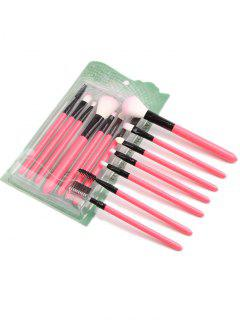 Portable Beauty Tools 7Pcs Pinceles De Maquillaje Set - Rosa