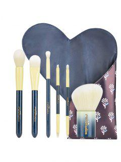 Herramientas De Belleza Portátiles Pinceles De Maquillaje Con Bolsa - Azul