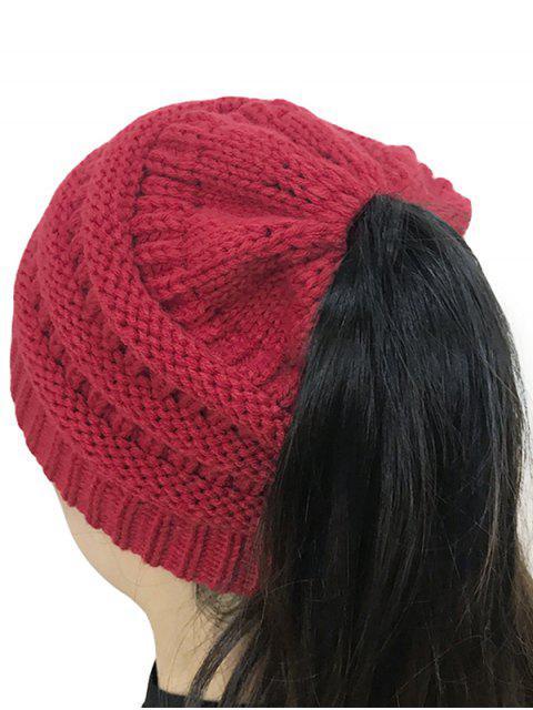 Sombrero hecho punto superior abierto de Mixcolor - Rojo  Mobile