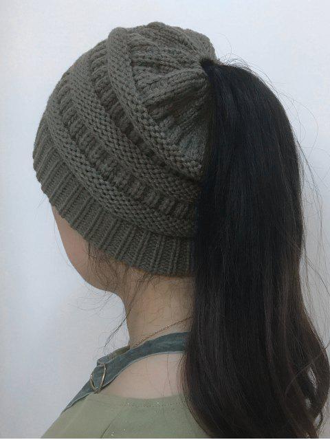 Sombrero hecho punto superior abierto de Mixcolor - Gris Oscuro  Mobile