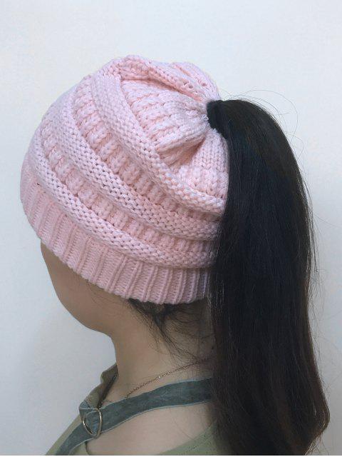 Sombrero hecho punto superior abierto de Mixcolor - Rosado  Mobile