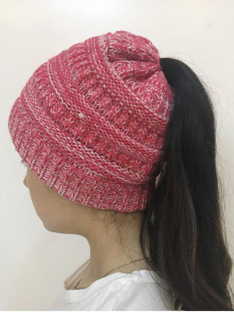 online Mixcolor Open Top Knitted Hat - TUTTI FRUTTI  Mobile