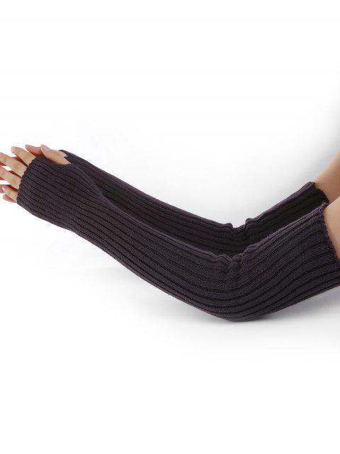Patrón vertical de rayas Calentadores de brazo tejidos - Café Exprés  Mobile