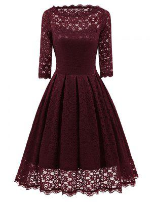 Lace Vintage Party Fit and Flare Dress