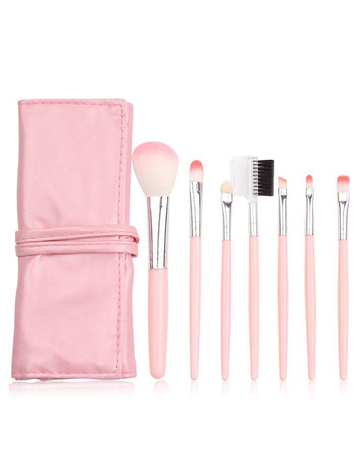 Portable 7Pcs Beauty Tools Makeup Brushes Set With Bag