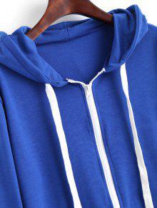 Con Capucha Azul Cordones Con S Sudadera En Contraste daFxdwP