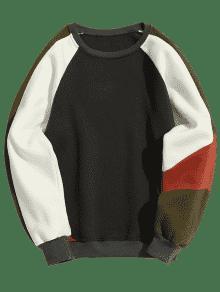 Color Sudadera Gris De Oscuro Block Redondo Cuello Lana 2xl Con 11fXq6